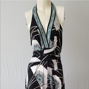 BCBGMazaria Halter Maxi Dress